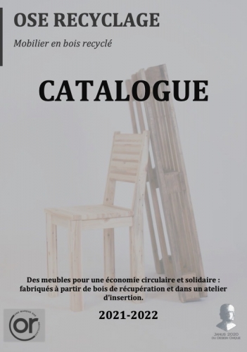 Catalogue d'Ose Recyclage 2021